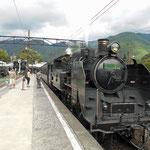 In return journey, I got on a steam locomotive.