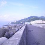 向こうに熱海の町が見えます。