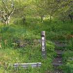 梅林の途中に登山口の標識があります。06:53  クライム・オン!