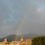 2018.6.29 雨上がりの空に虹がかかりました。