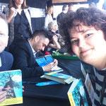 Selfie amb Patrick Ness i Bayona