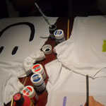 T-shirts für die Fussbelle  malen