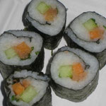 Vegetarische Sushi rollen