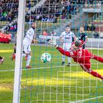 Karlsruher SC vs. Chemnitzer FC im Wildpark Stadion