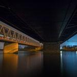 Die Rheinbrücke bei Karlsruhe