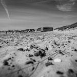 Bunkeranlagen am Strand bei Skagen in Dänemark