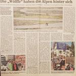 """Quelle: Rhein-Zeitung Westerwald-Sieg vom 25.07.2007 Die """"Wölffe"""" haben die Alpen hinter sich"""