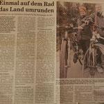 """Quelle: Rhein-Zeitung Nr. 84 Westerwald-Sieg vom 11.04.2007  """"Einmal auf dem Rad das Land umrunden"""""""