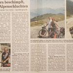 """Quelle: Rhein-Zeitung Westerwald-Sieg vom 19.07.2007 """"Von Autofahrern beschimpft, Gluthitze und Alpenschluchten"""""""