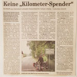 """Quelle: Rhein-Zeitung Nr. 160 Westerwald-Sieg vom 13.07.2007 """" Keine Kilometer-Spender"""""""
