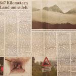 Quelle: Rhein-Zeitung Westerwald-Sieg vom 03.08.2007 In 2647 Kilometern das Land umradelt
