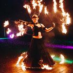 Feuershow in München