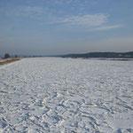 Schon eine Woche später war die Oder zugefroren