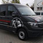VW Crafter Bedachungsservice Marco Schoob - Komplettfolierung 3M2080 deep black matt und Beklebung mit Oracal 751C