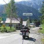 Einfahrt nach Alaska
