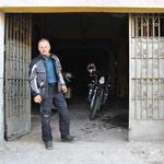 unsere Motorradgarage in Cartagena