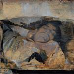 Schlafender, 2008, Öl auf Leinwand, 60 x 70 cm