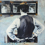 Die Frage I, Öl auf Leinwand, 90 x 110 cm