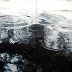 Circles No. 4, 2017, Öl auf Leinwand, zweiteilig, 180 x 220 cm, vfb.