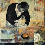 Der Brief, 2010, Öl auf Leinwand, 110 x 90 cm