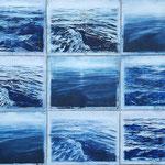 Immer Meer, 2009, Öl/ Holzschnitt auf Leinwand, 180 x 240 cm
