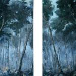 Kiefern, 2012, Öl auf Leinwand, je 160 x 115 cm