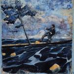 Überfahrt, 2008, Öl auf Leinwand, 120 x 100 cm