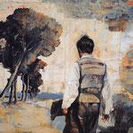 Zeitspuren I, 2009, Öl auf Leinwand, 90 x 125 cm