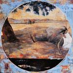 o. T., 2007, Öl au Leinwand, 100 x 100 cm
