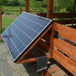 Sur notre ferme, nous sommes autonomes énergétiquement et nous la consommons modérément en ayant repensé nos besoins concrets... Une autre approche de la consommation énergétique! (PHOTO 2019 (c) John C)