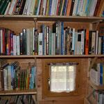 Pas de télévision, mais une grande bibliothèque! Nous lisons chaque jour! (PHOTO 2020 (c) John C)
