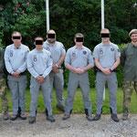 Groupe de formation Pistage que John C a instruit au centre nationale de formations de l'OFB  (région centre) (PHOTO 2016 (c) secrétariat OFB)