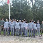 Groupe de formation Pistage que John C a instruit au centre nationale de formations de l'OFB  (région centre) (PHOTO 2017 (c) secrétariat OFB)