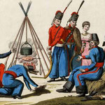 Bivouac des cosaques du Don (Peinture fin 19e)