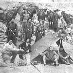 Bivouac cosaque sur la ligne de front du Caucase (PHOTO fin 19e)