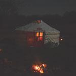 Sur notre ferme bashkir-cosaque, notre yourte est utilisée comme autrefois dans la culture bashkir, uniquement comme une tente d'habitation estivale (PHOTO 2019 (c) John C)