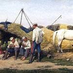 Bivouac cosaque sous appenti simple  (Tableau de P.Kovalevsky 1890)