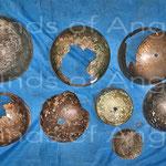 Lot de cloches brisées. Musée de Banteay Meanchey. Cambodge.