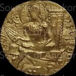 Dynastie Gupta. Sumadragupta. Dinar or. c.335-375 CE. Musée des civilisations asiatiques, Singapour