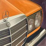 """""""Mercedes- Benz (w123) 1977"""" - 2017 - Öl auf Leinwand - 100 x 100cm - verkauft"""