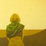 """""""Frau mit grünem Schal"""" - 2013 - Öl auf Leinwand - 130 x 100cm - verkauft"""