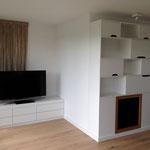 Regal und TV-Sideboard lackiert