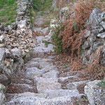 L'escalier pour accéder au hameau !