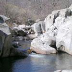 La roche est usée