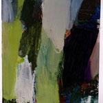 Baumstämme | 100x110 cm | Öl auf Nessel | 2005