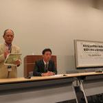 東京電力の早期の和解案受諾を求める院内集会の模様