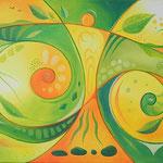 543 ruhig / bewegt, Öl auf LW, 2019, 70 x 30 cm, verkauft