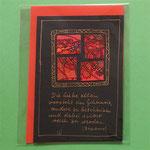 Klappkarte 4 mit Spruch, + farbiger Umschlag, 6 € zzgl. Versand