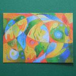 """Postkarte 9 """"Farbe ist die Sprache des Lichts"""", 1,50 €"""