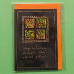 Klappkarte 5 mit Spruch, + farbiger Umschlag, 6 € zzgl. Versand